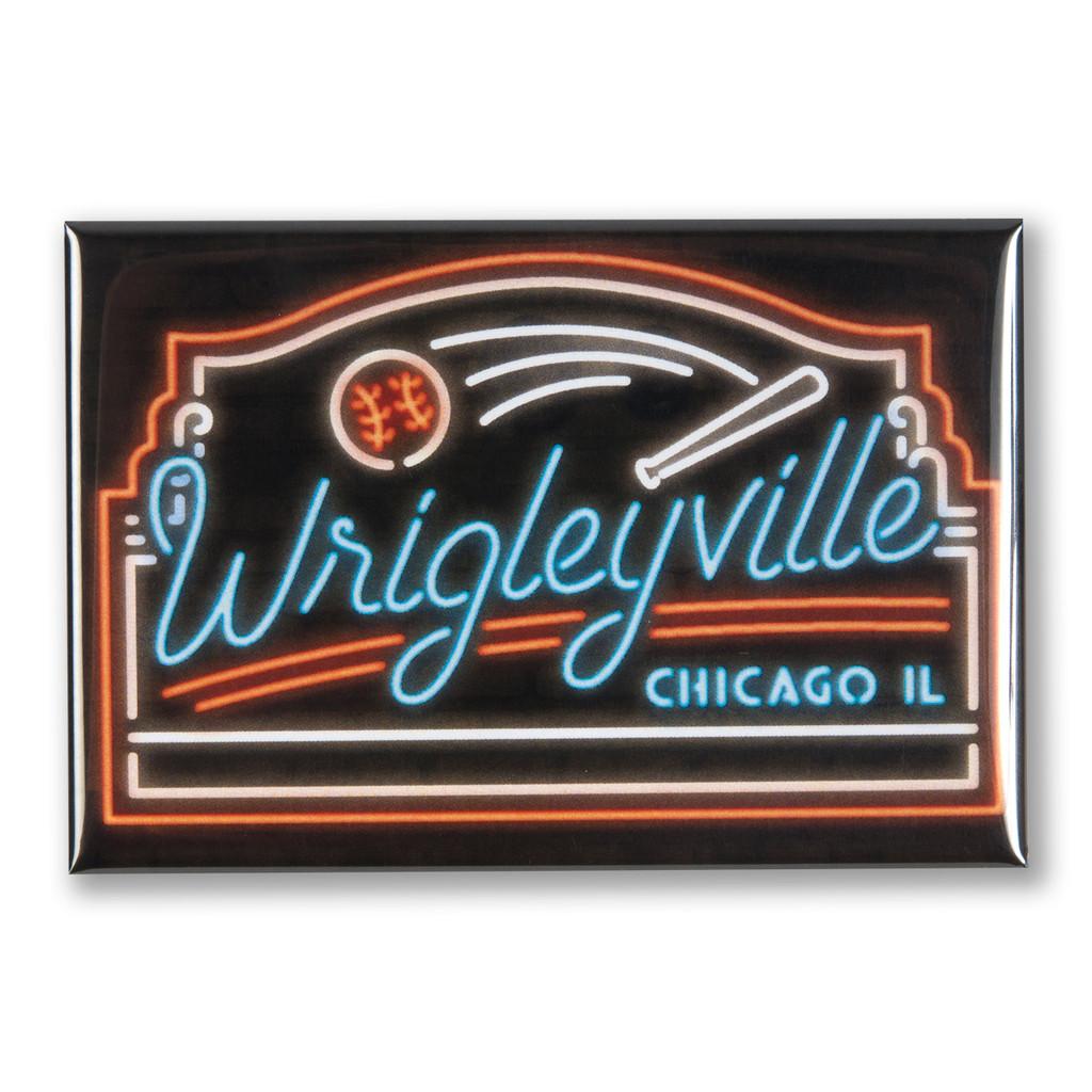"""Wrigleyville Chicago 3"""" x 2"""" Magnet"""