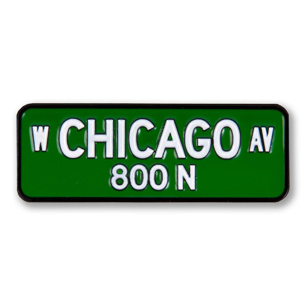 Chicago Street Sign Enamel Pin