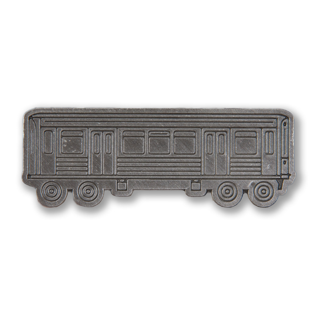 Metallic El Train Pin
