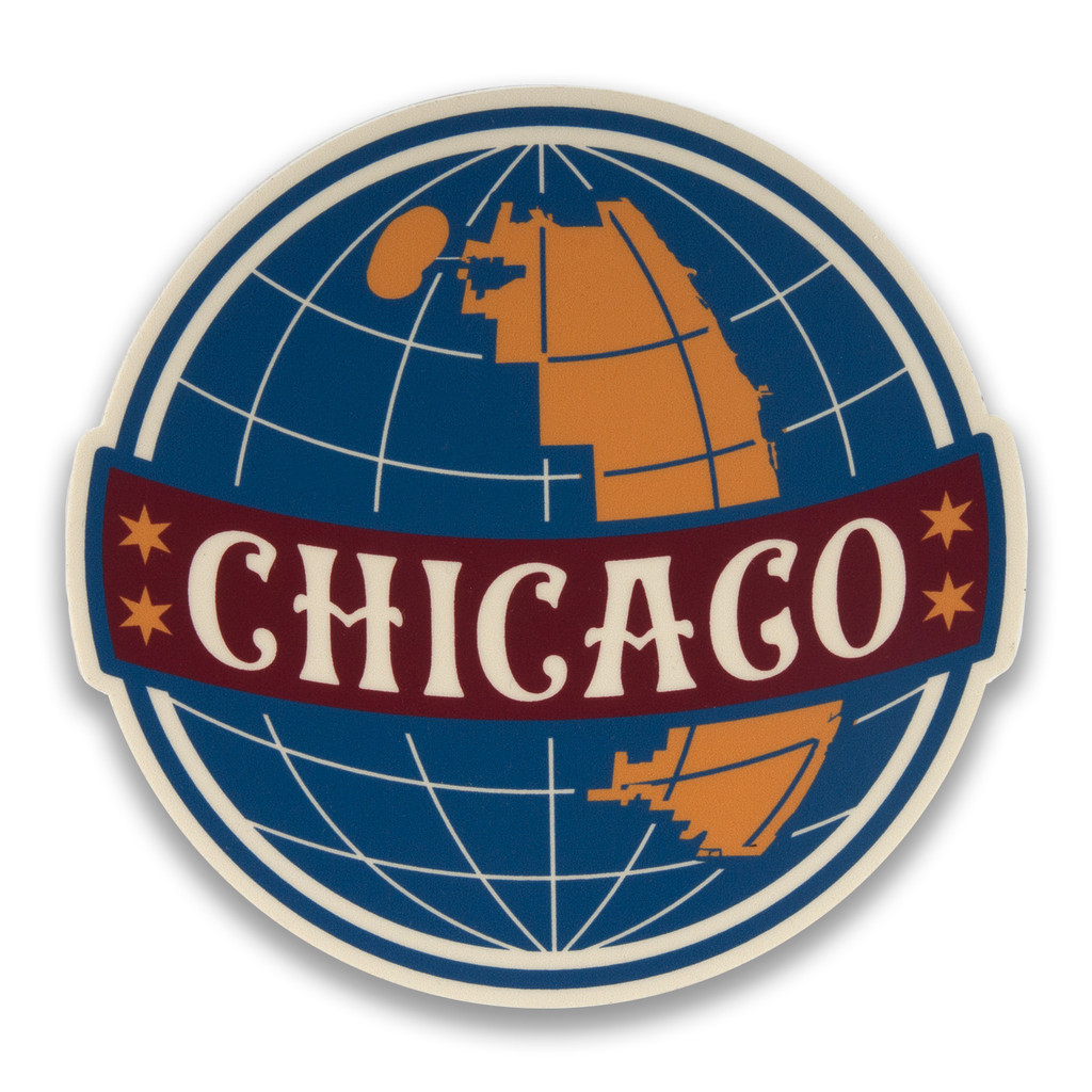 Chicago Globe Sticker