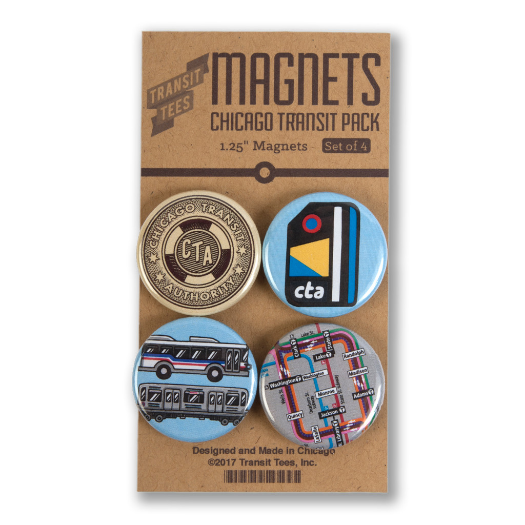 Chicago Transit Round Magnet Pack