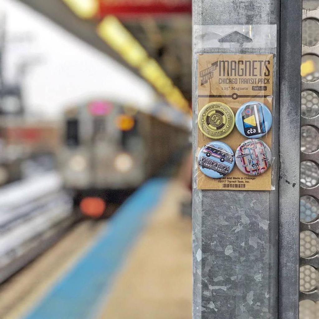 Chicago Transit Round Magnet Pack