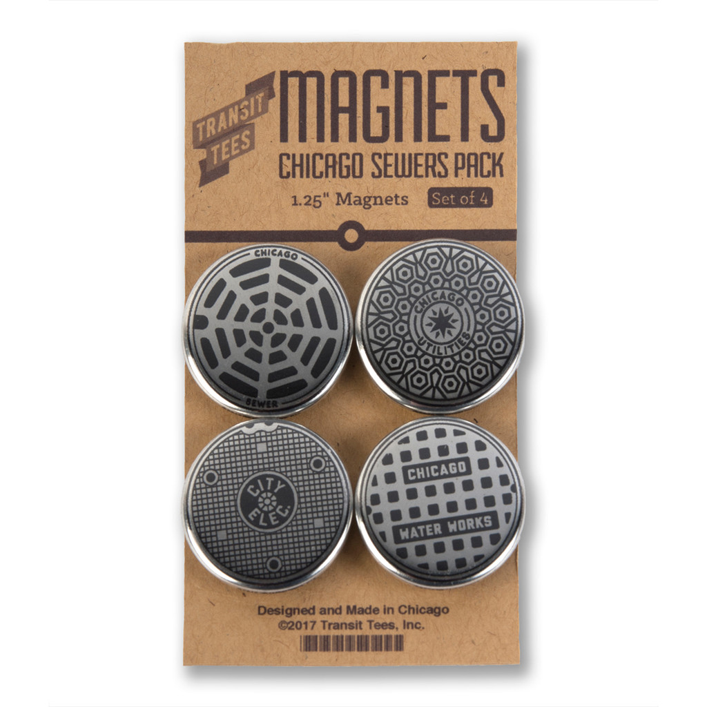 Chicago Sewers Round Magnet Pack