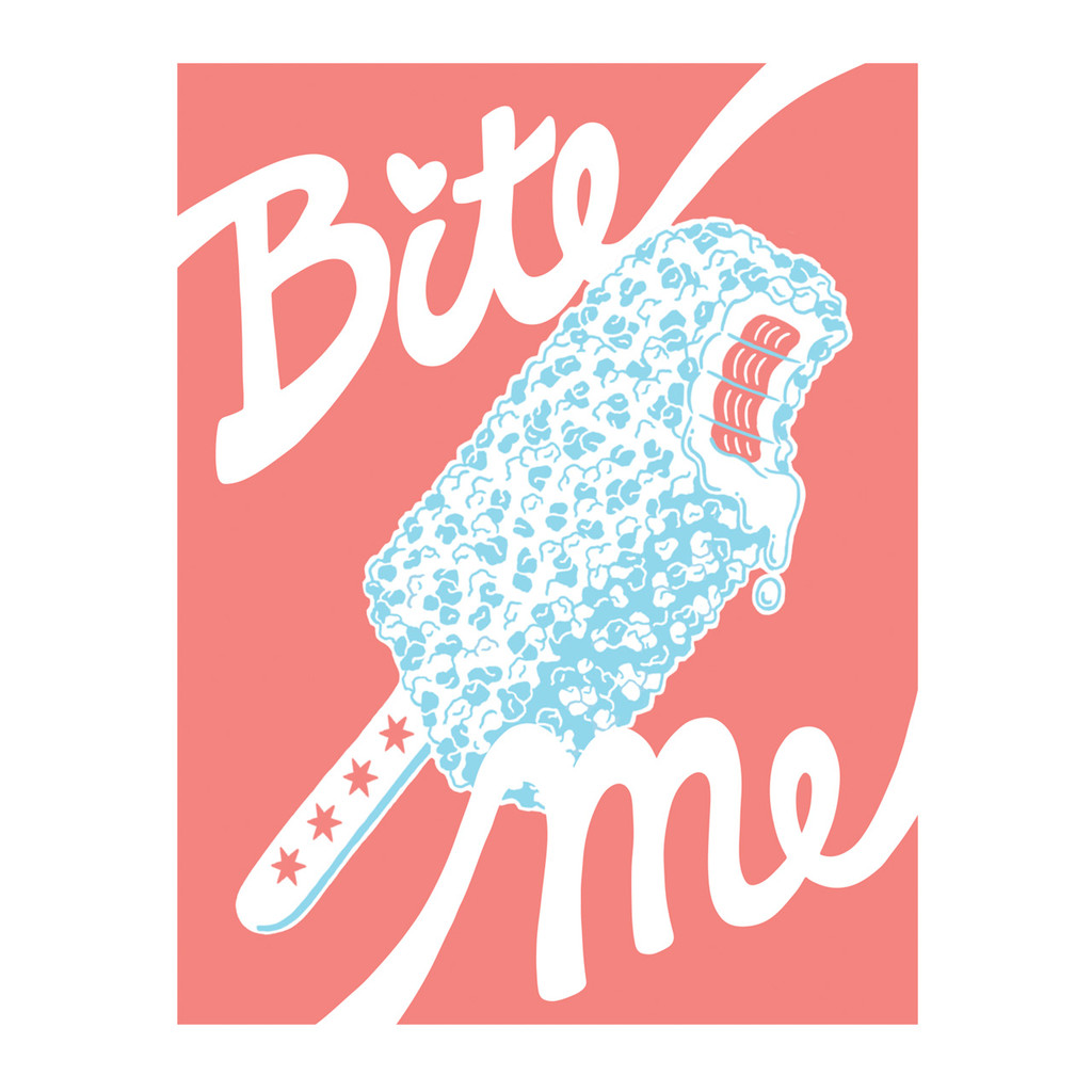 Bite Me Popsicle - Greeting Card