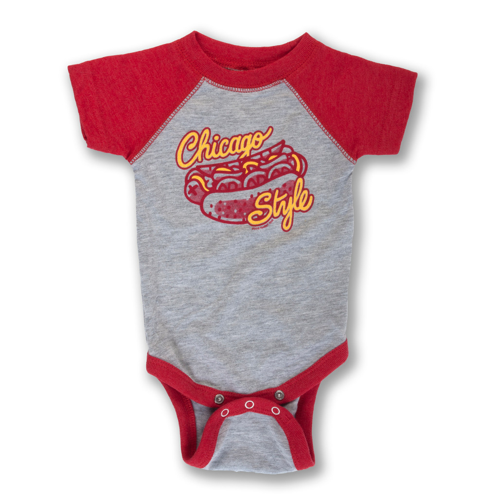 Chicago Style Hot Dog Infant Onesie