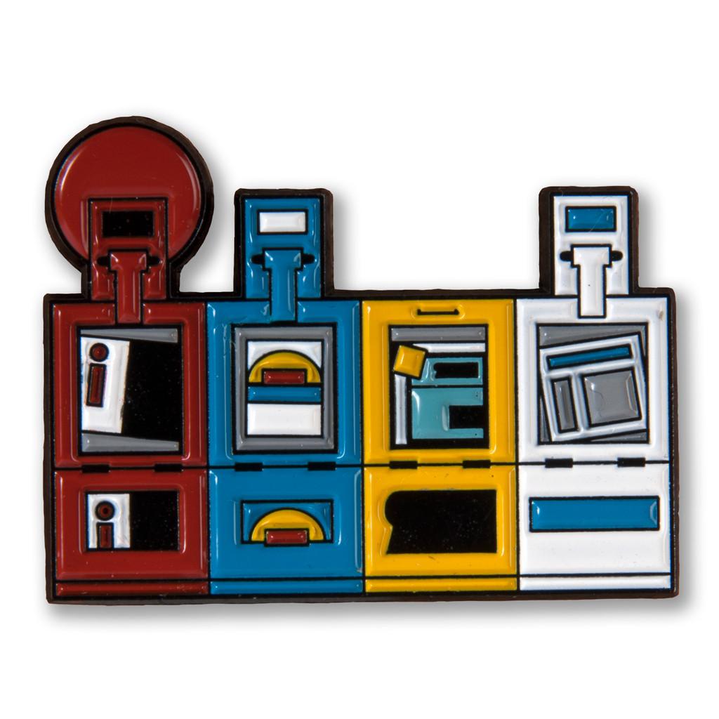 Chicago Newsboxes Enamel Pin