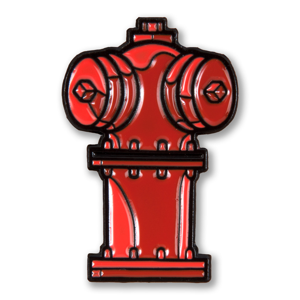 Chicago Fire Hydrant Enamel Pin