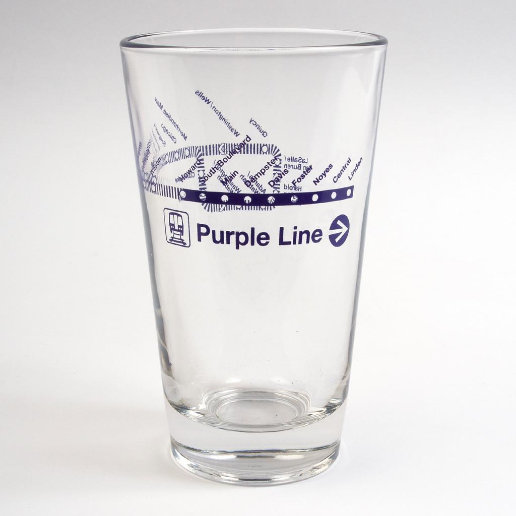 Purple Line Pint Glass