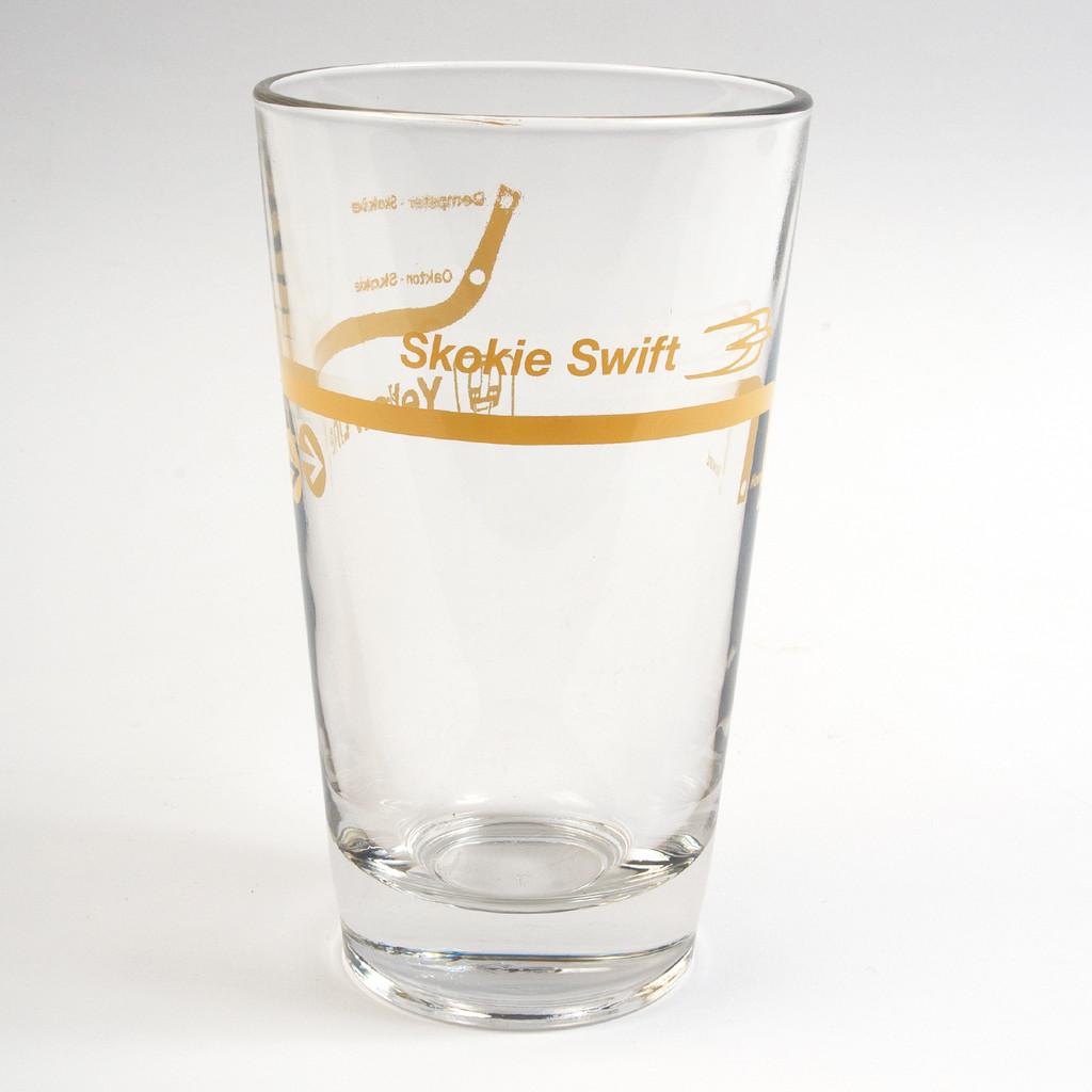 Yellow Line Pint Glass