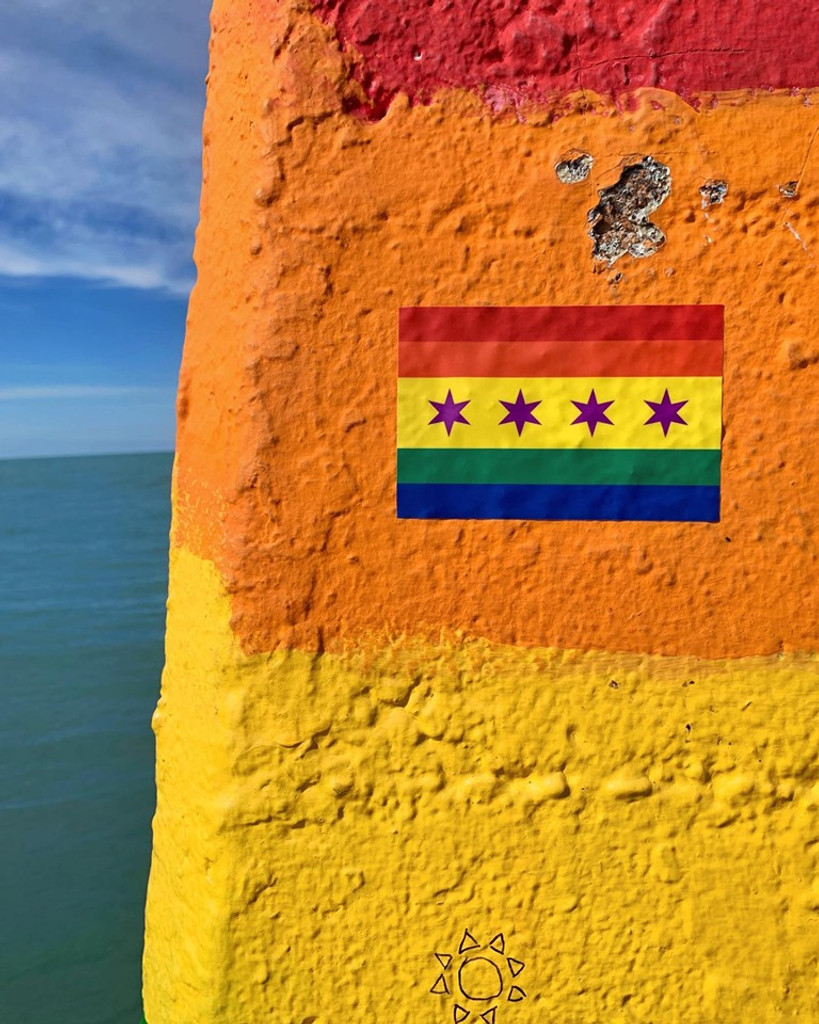 Chicago Pride Flag Sticker