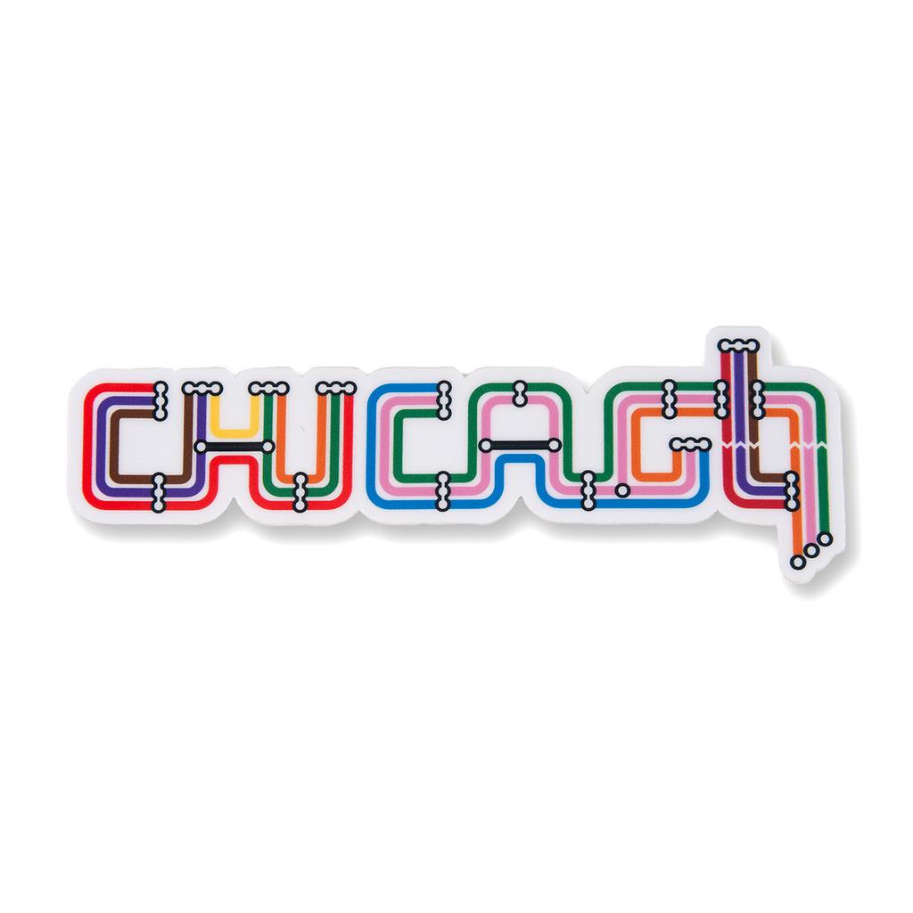 Transit Type Chicago Sticker
