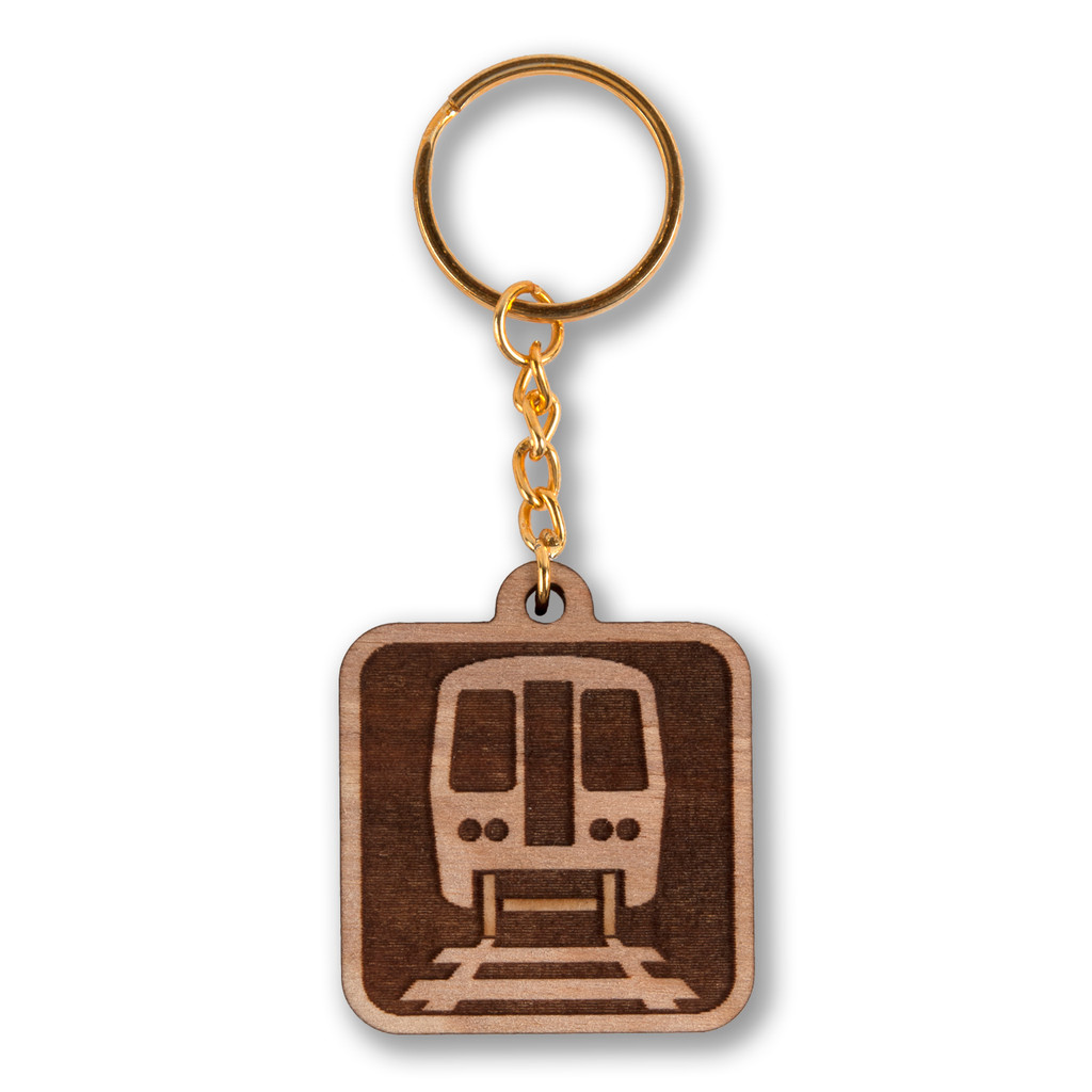 El Icon Wooden Keychain