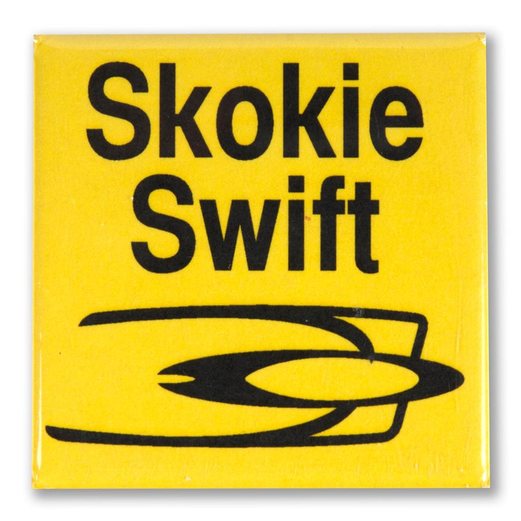 Skokie Swift Square Magnet