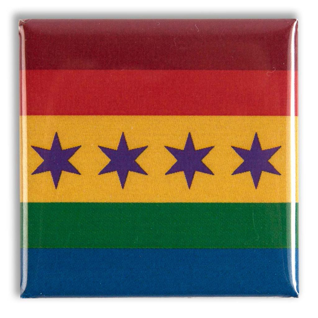 Pride Flag Square Magnet
