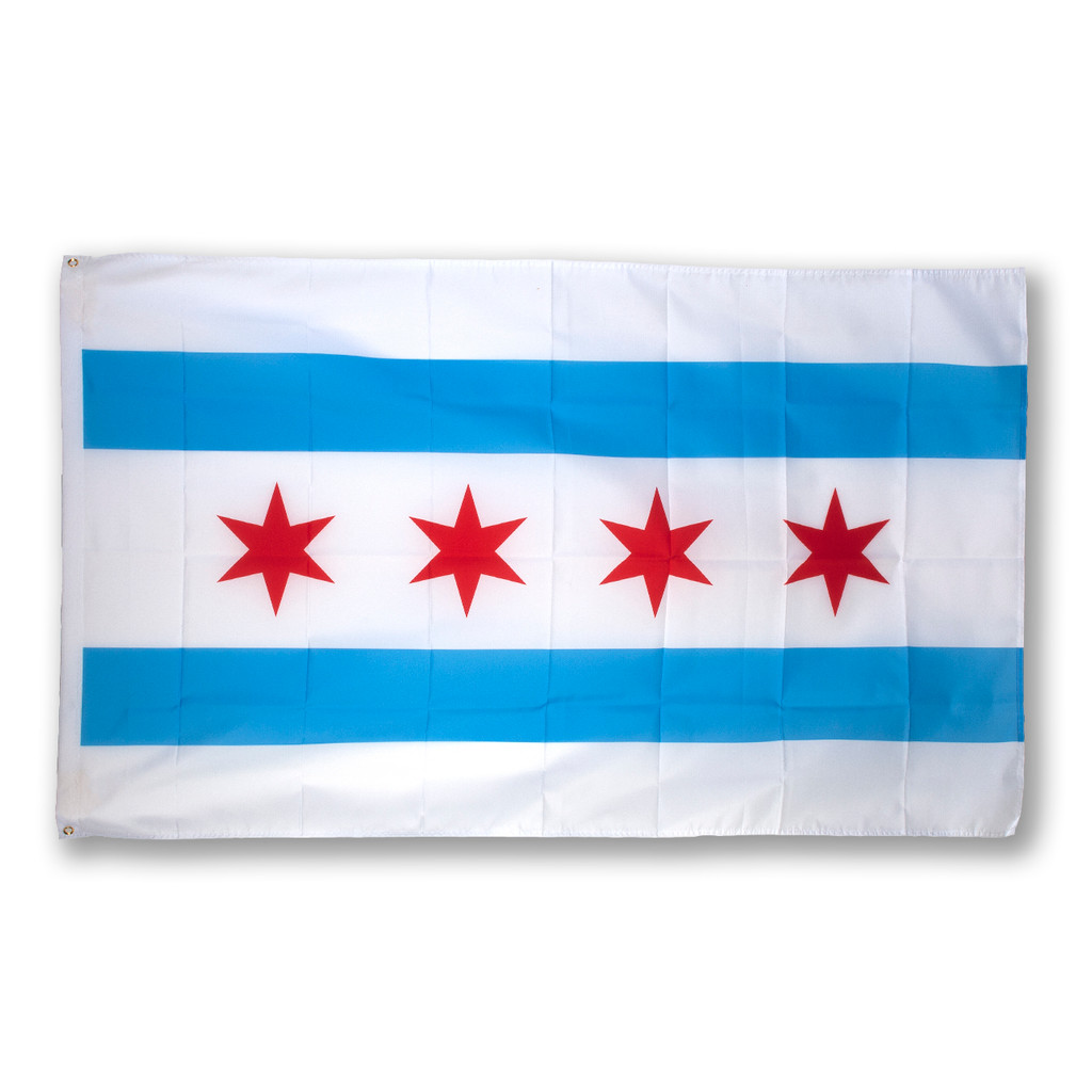 5' x 3' Polyester Chicago Flag