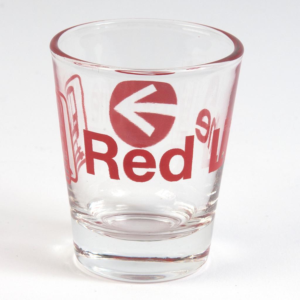 Red Line Shot Glass