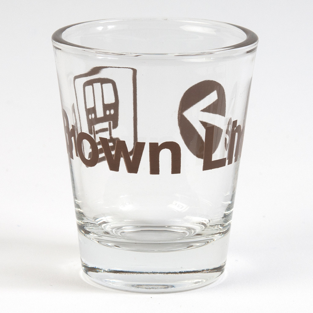 Brown Line Shot Glass