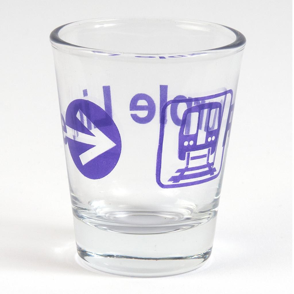 Purple Line Shot Glass