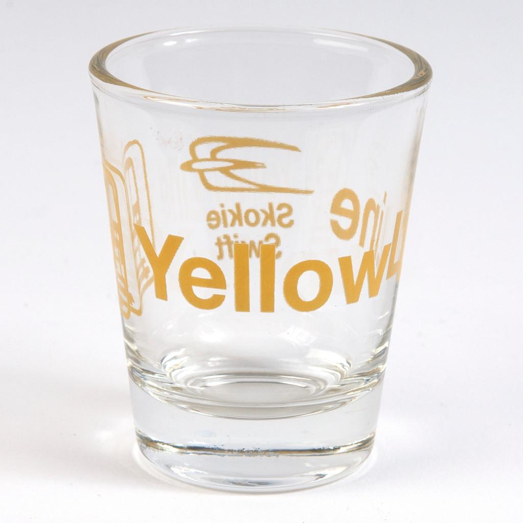 Yellow Line Shot Glass