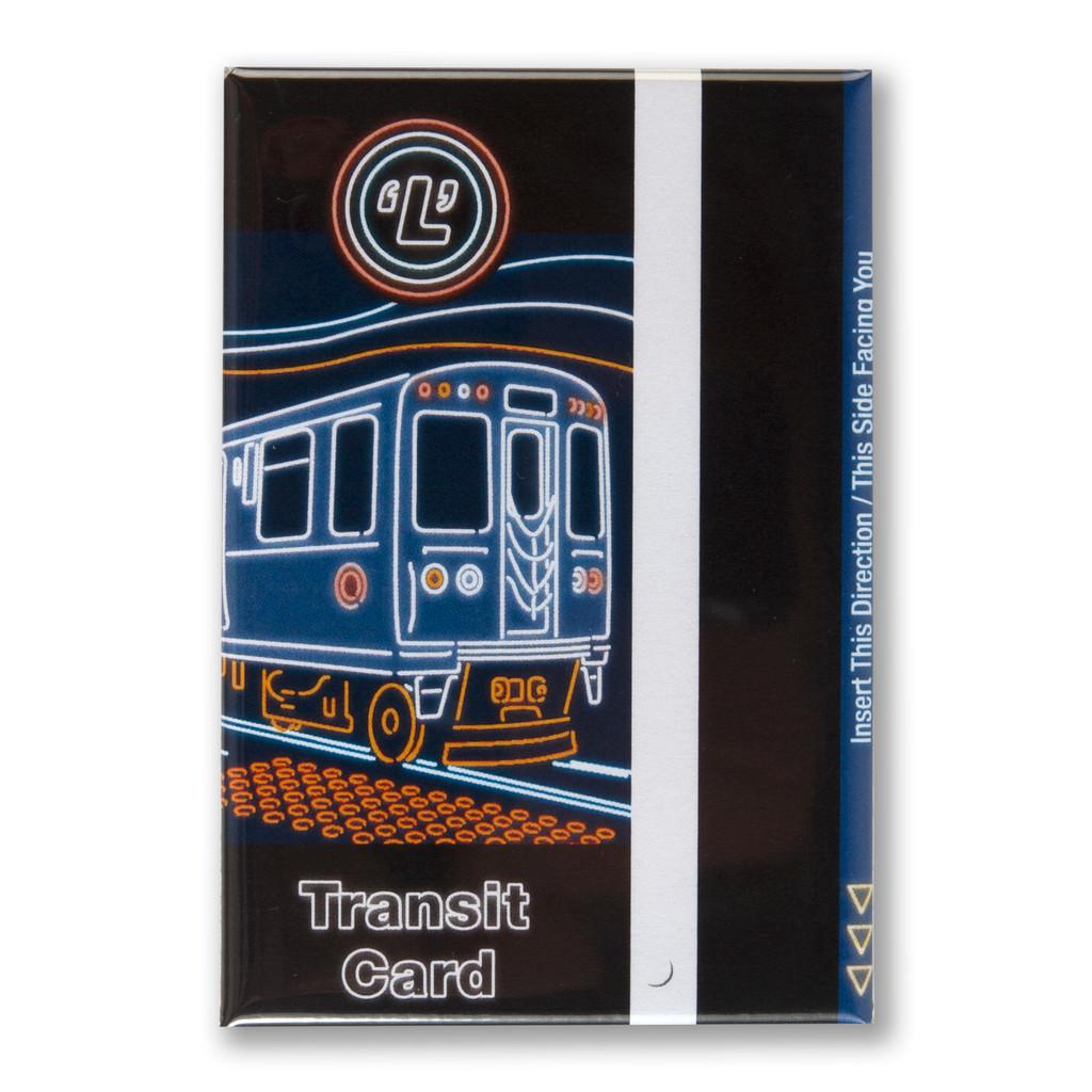 """Transit Card 3"""" x 2"""" Magnet"""