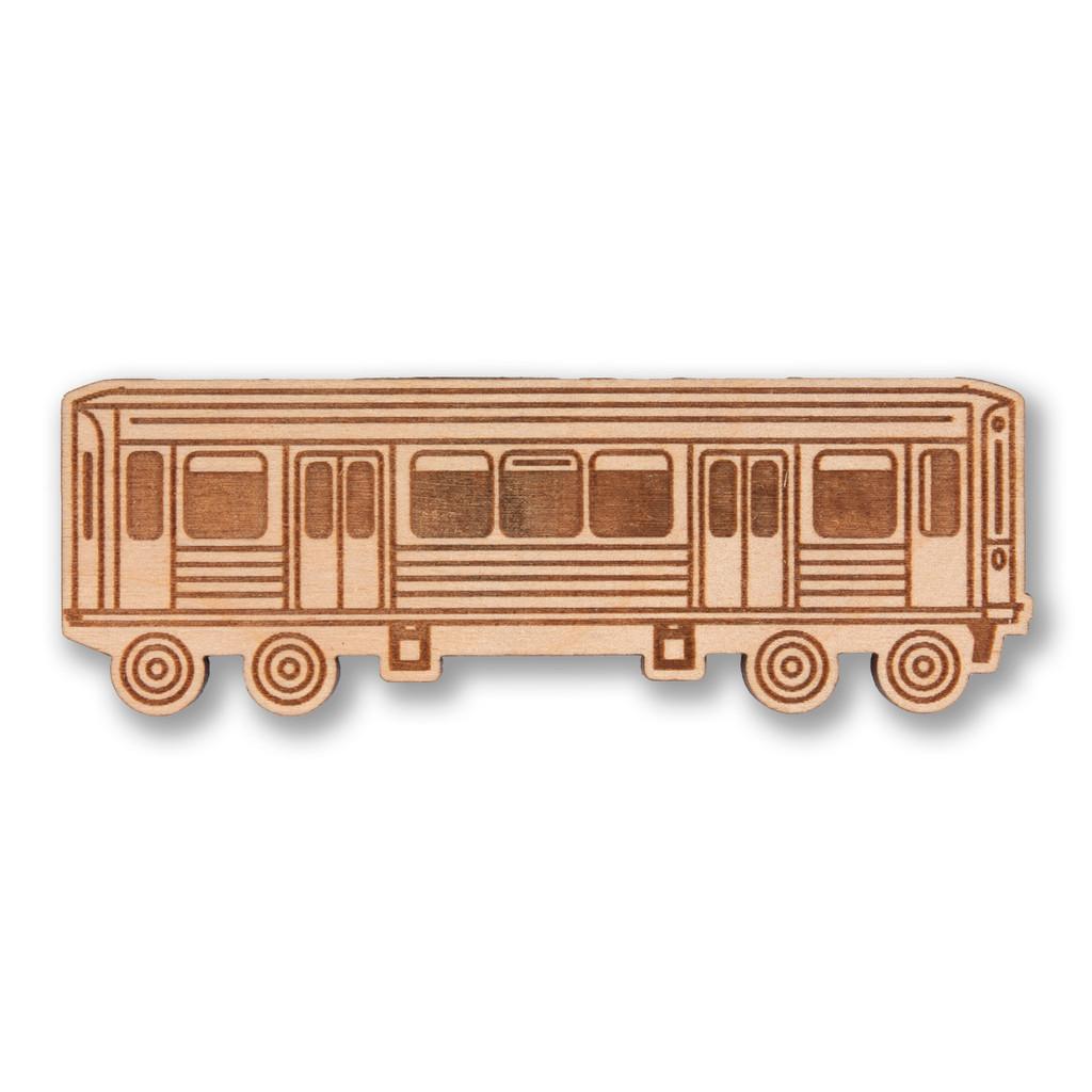 El Train Wooden Magnet