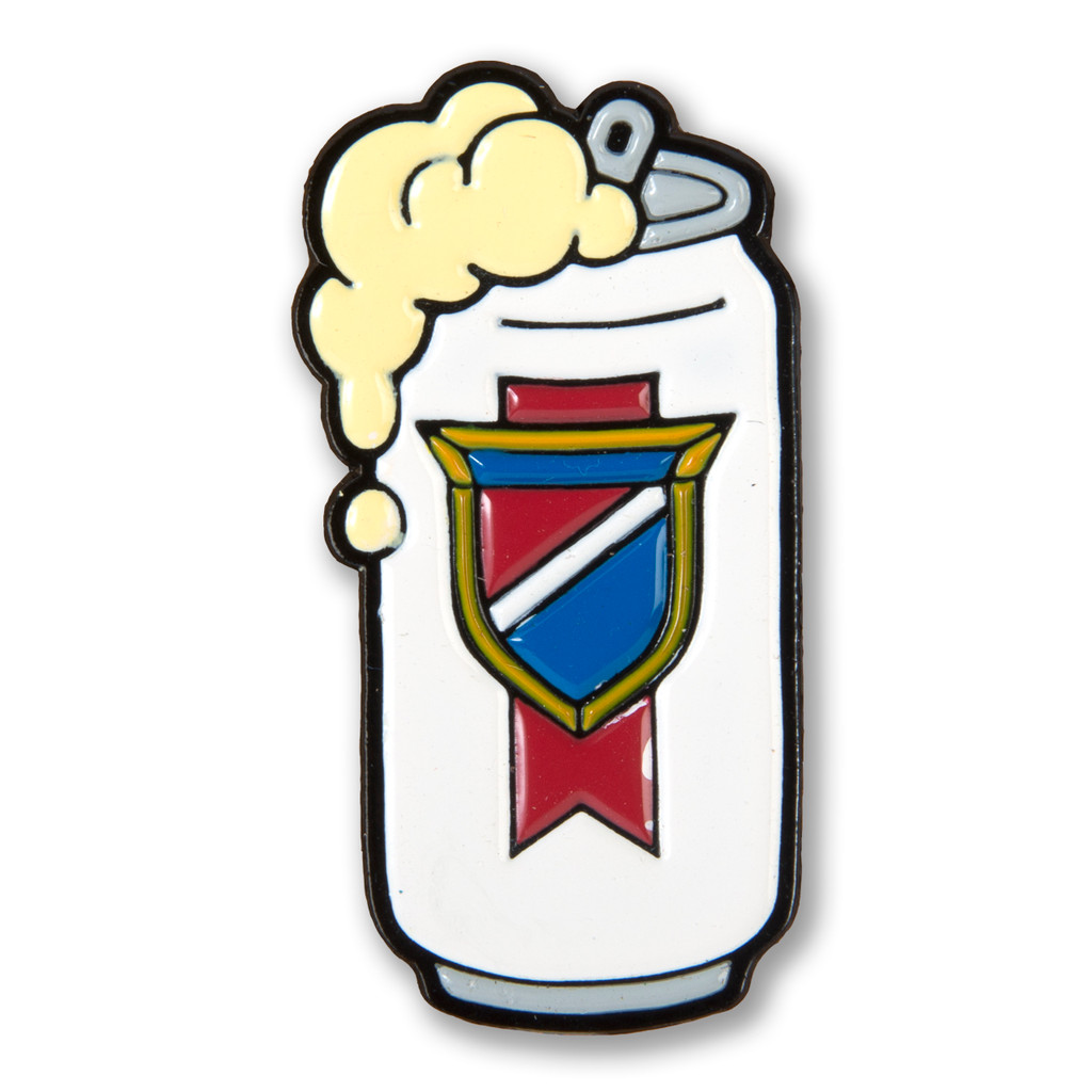 Drink Local Beer Can Enamel Pin