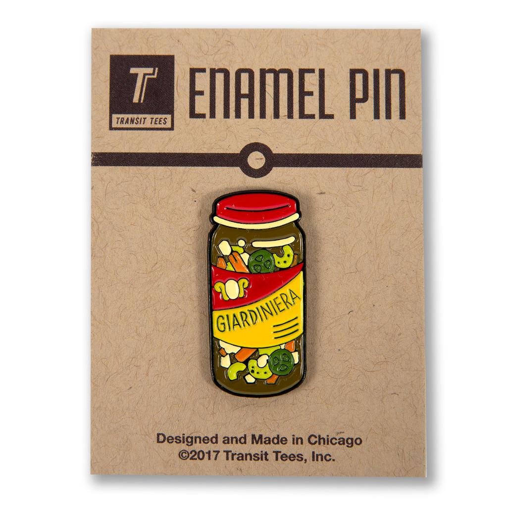 Giardiniera Enamel Pin