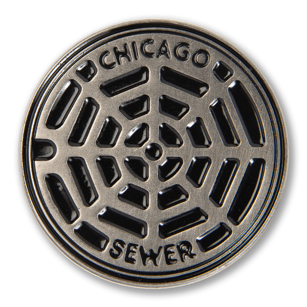 Chicago Sewer Enamel Pin