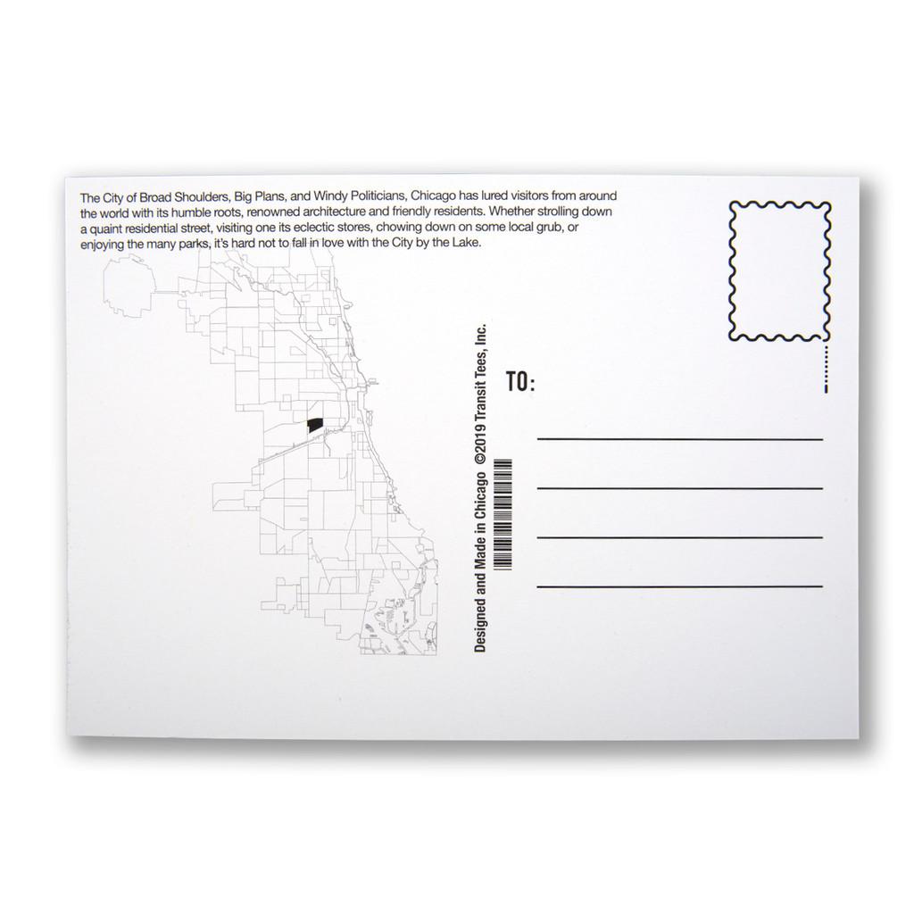 Heart of Chicago Neighborhood Postcard