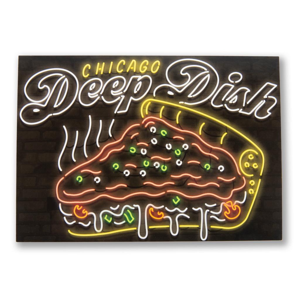 Neon Deep Dish Postcard
