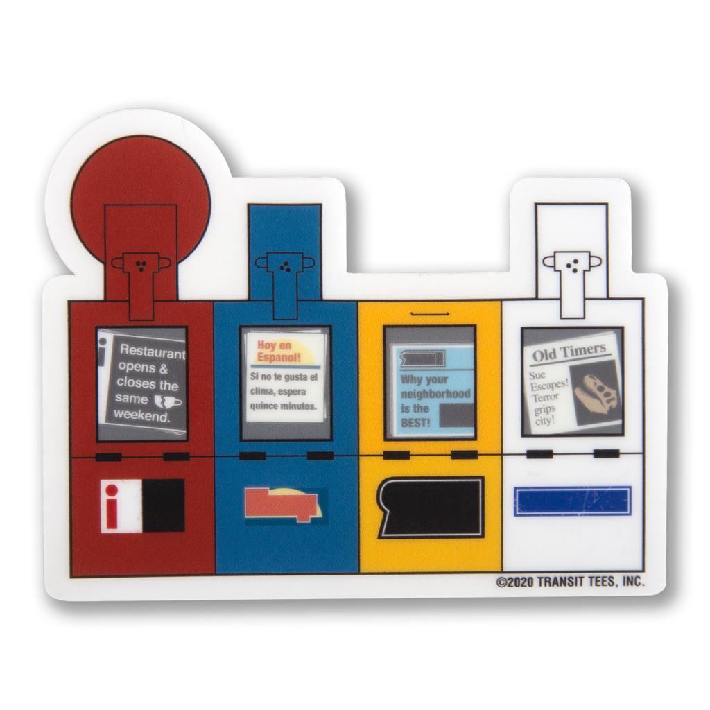Chicago Newsboxes Sticker