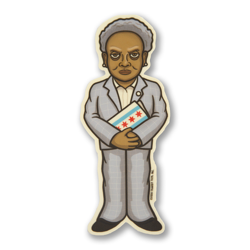 Lori Lurking Lightfoot Sticker