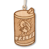 Salty Wooden Ornament