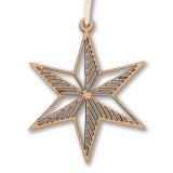 Chicago Cut Out Star Wooden Ornament