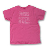 El Train Blueprint Schematic Pink - Toddler Tee