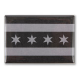 """Greyscale Chicago Flag  3"""" x 2"""" Magnet"""
