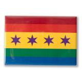 "Chicago Pride Flag 3"" x 2"" Magnet"