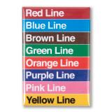 """Train Line Colors 3"""" x 2"""" Magnet"""