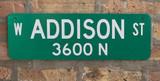 Custom Green Street Sign