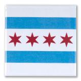 Chicago Flag Square Magnet
