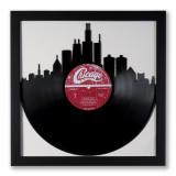Upcycled Chicago Skyline Vinyl Record