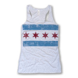 Distressed Chicago Flag Tank - Women's