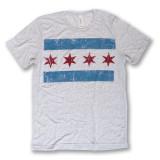 Distressed Chicago Flag Tee - Men's