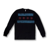 Distressed Chicago Flag Long Sleeve Thermal - Unisex