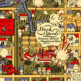 Detail of Chicago Gangland Map