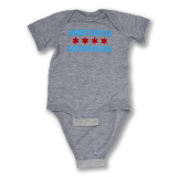 Chicago Doodle Flag - Infant Onesie