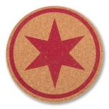 Chicago Flag Red Star Coaster