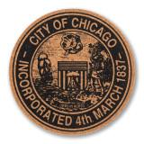 Chicago City Seal Coaster