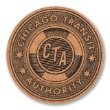 CTA Token Coaster