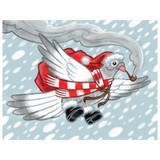 Pigeon Delivery - Greeting Card